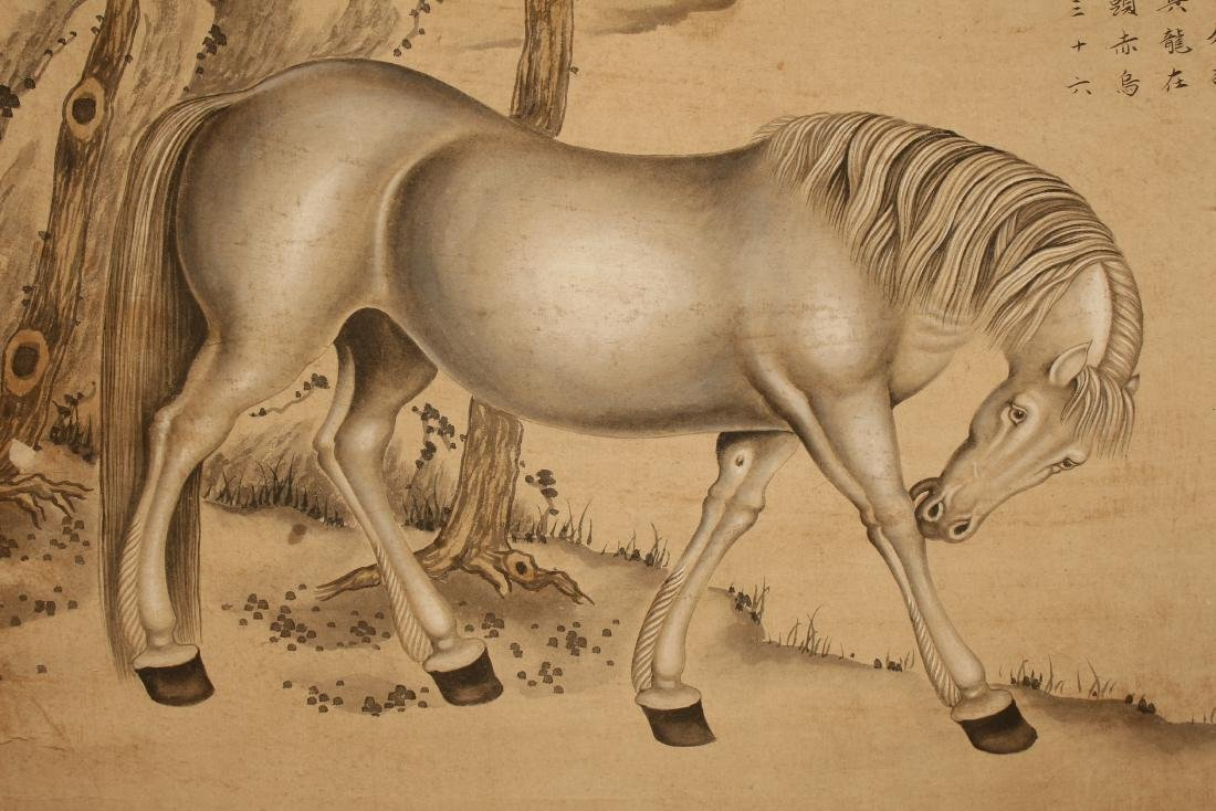 A Chinese Horse-portrait Vivid Scroll Display - 5