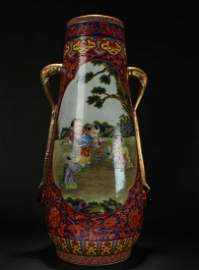 A Chinese Elephant-fortune Duo-handled Massive Detailed