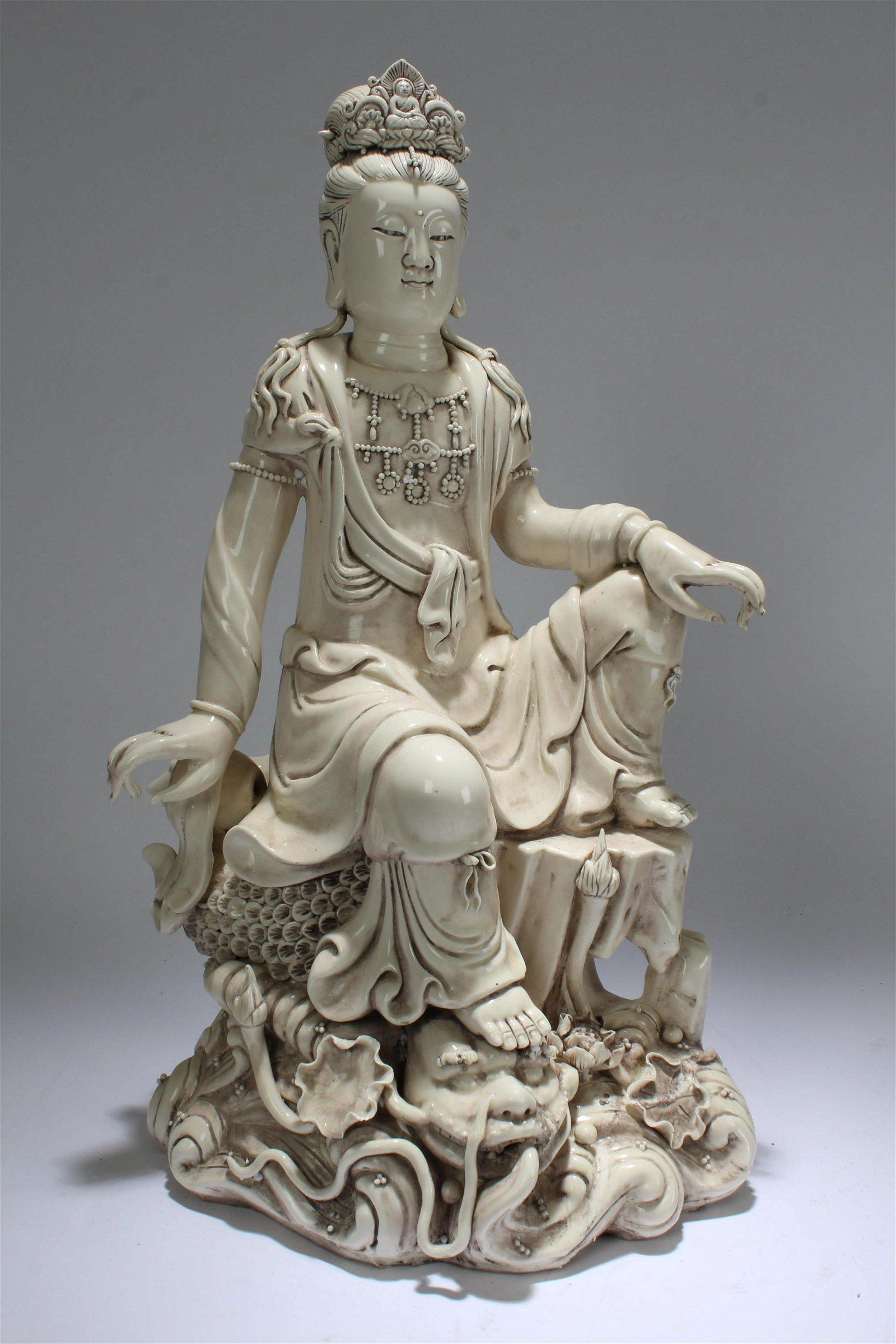 An Estate Chinese Religious Pondering-pose De Blac