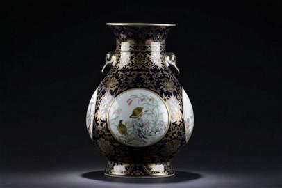 A Detailed Chinese Porcelain Windowed Decorating Vase