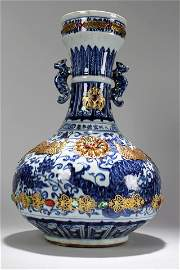 An Estate Chinese Duo-handled Massive Blue and White