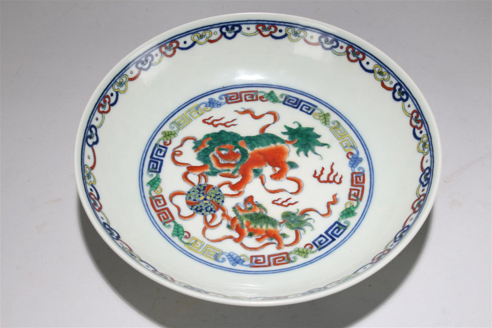 An Estate Chinese Myth-beast Fortune Porcelain Plate