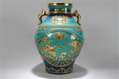 A Chinese Phoenix-fortune Massive Duo-handled Porcelain