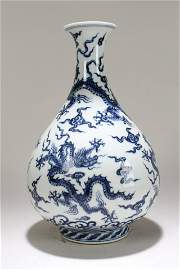 A Chinese Vividly-detailed Blue and White