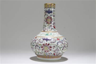 A Chinese Bat-framing Fortune Porcelain Vase