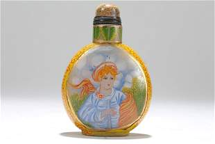 A Chinese Western-portrait Fortune Snuff Bottle