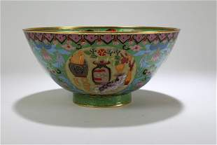 A Chinese Ancient-framing Circular Cloisonne Fortune