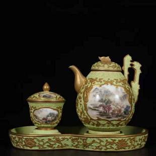 Collection of Chinese Story-telling Porcelain Tea Pot