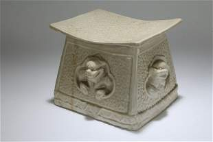 A Chinese Myth-beast Fortune Porcelain Stand