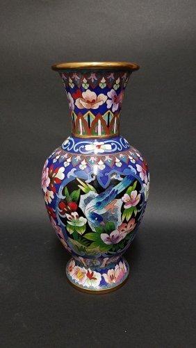 A Cloisonne Vase Display