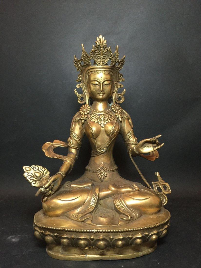 A Tibetan Gilt Budda Statue