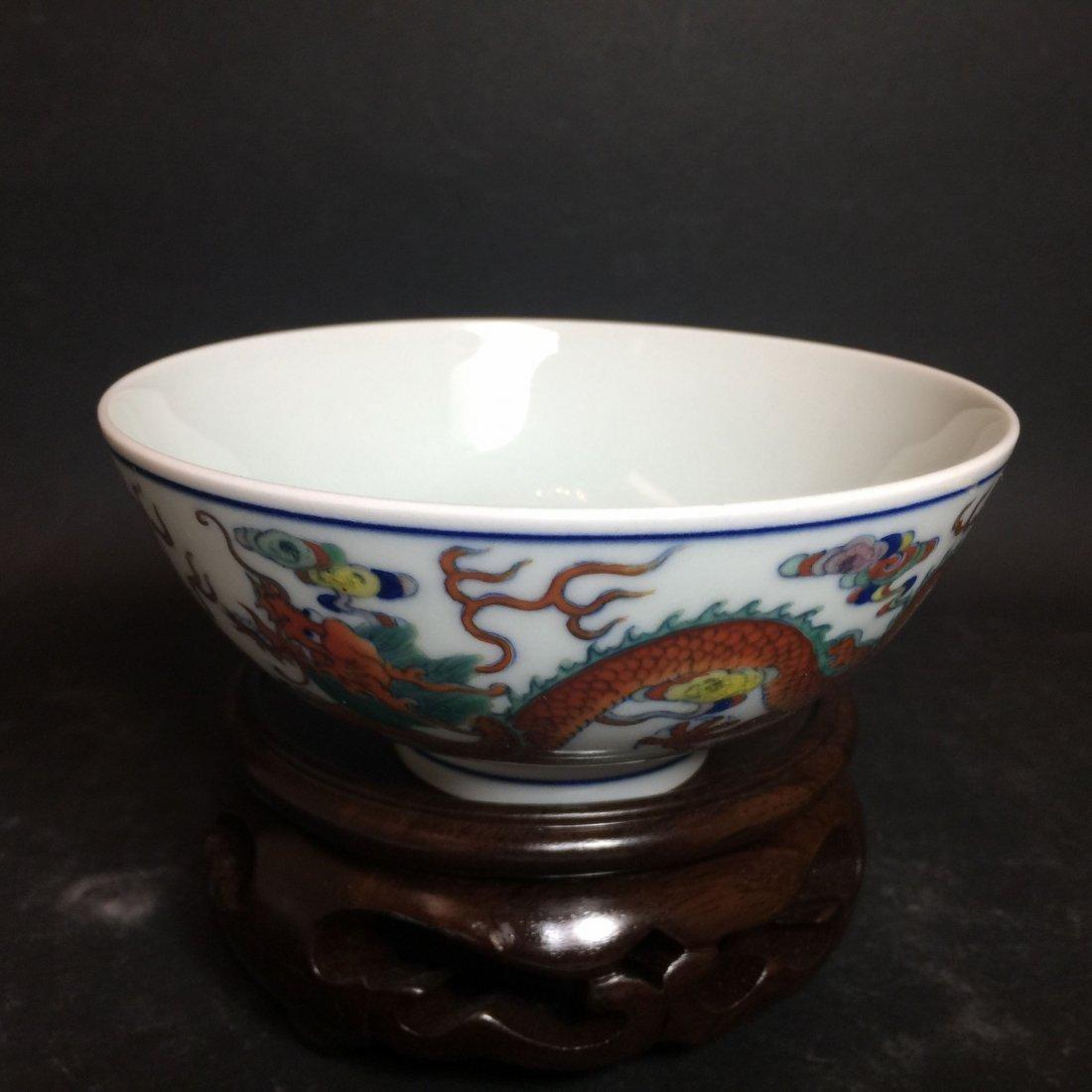 A Chinese White Porcelain Dragon Bowl