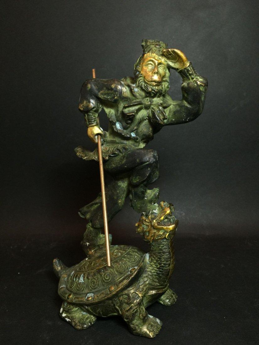 A Chinese Monkey God Statue