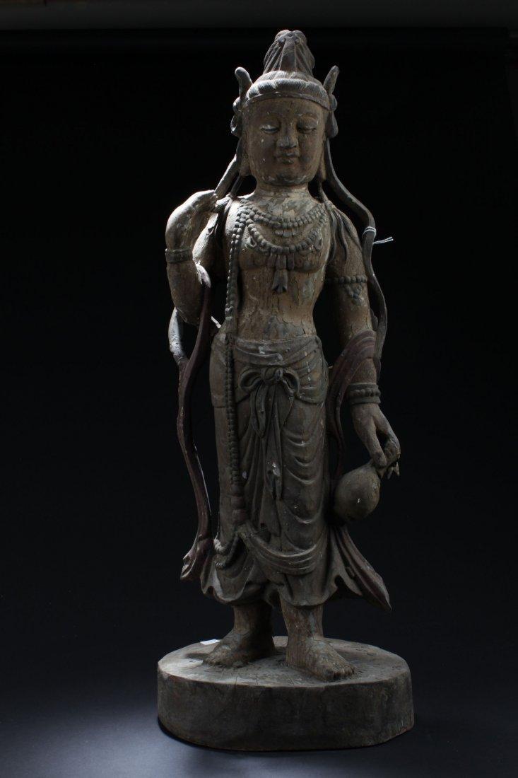 A Wooden Estate Chinese Buddha Statue