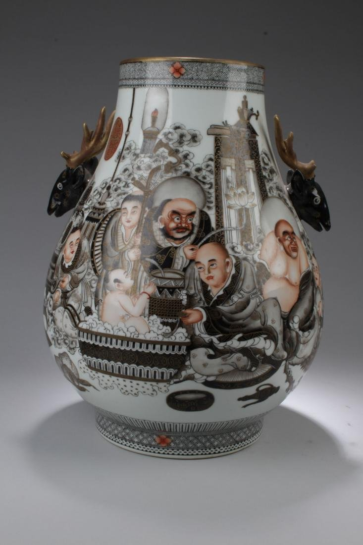 A Story-telling Chinese Estate Porcelain Vase