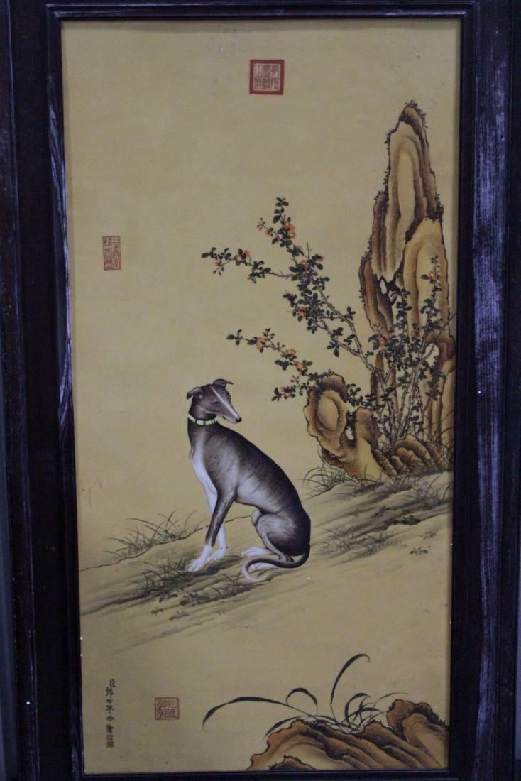 An Estate Dog-Portrait Porcelain Display