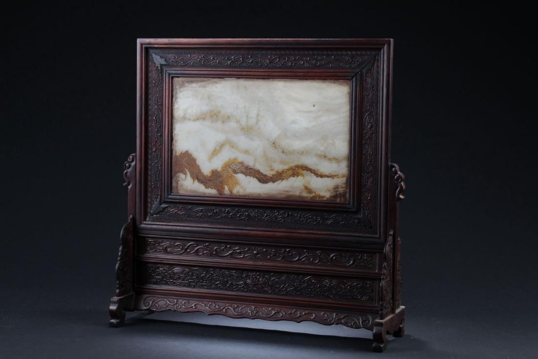 An Estate Chinese Table-sceen Display