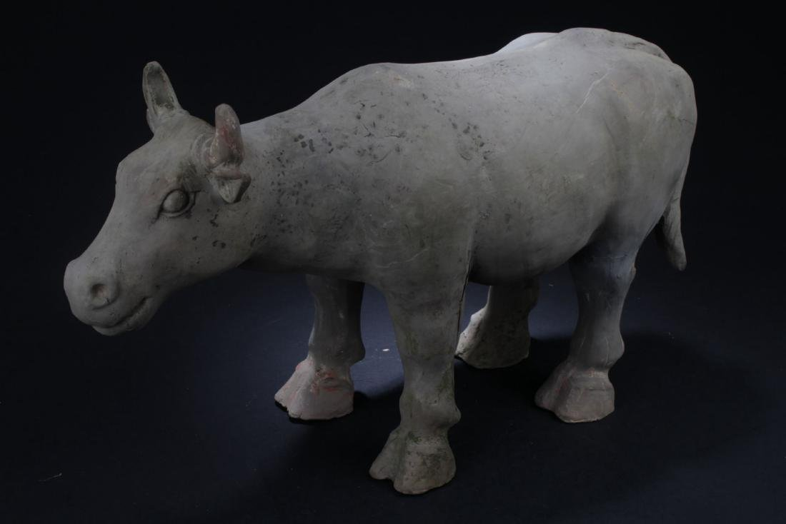 A Pottery-made Chinese Beast Statue