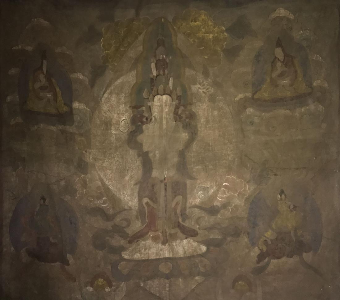 An Estate Tibetan Buddha Scroll