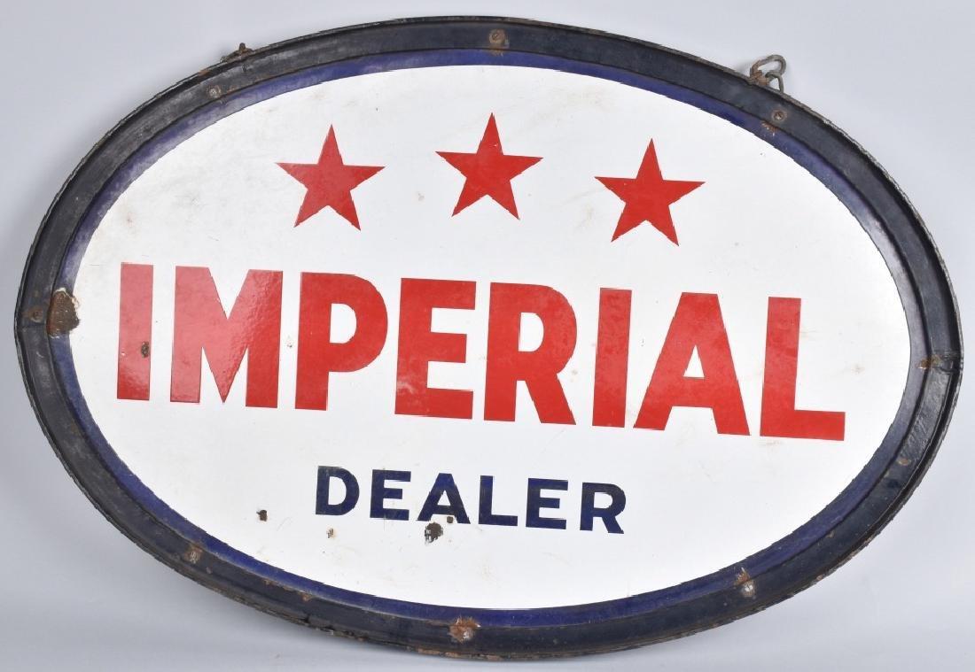 IMPERIAL DEALER DS PORCELAIN SIGN