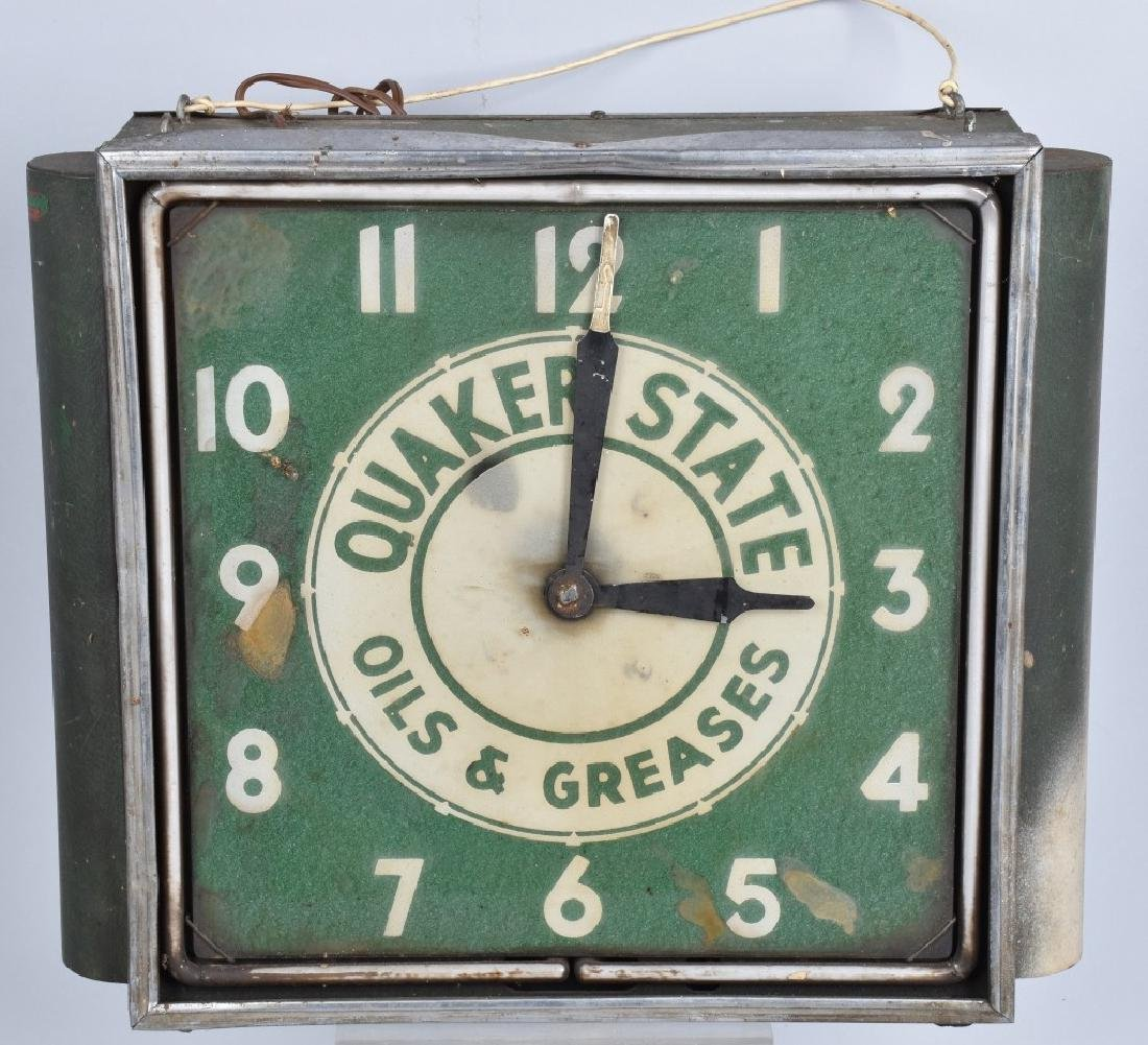 EARLY QUAKER STATE NEON CLOCK
