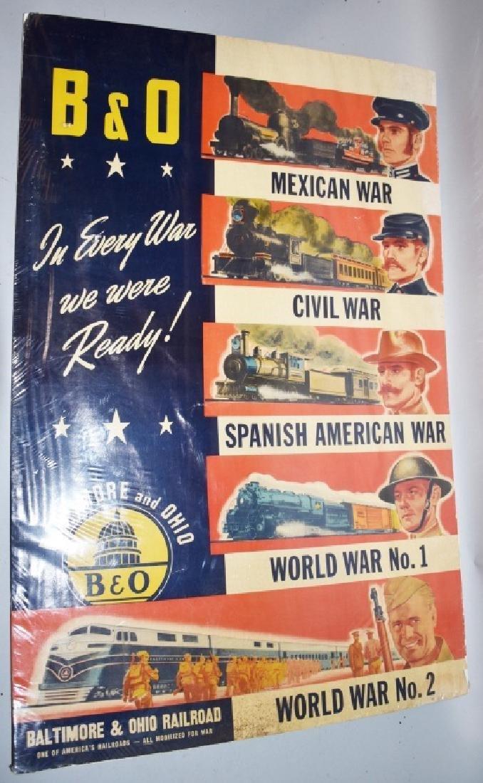 VINTAGE B&O RAILROAD WAR READY POSTER
