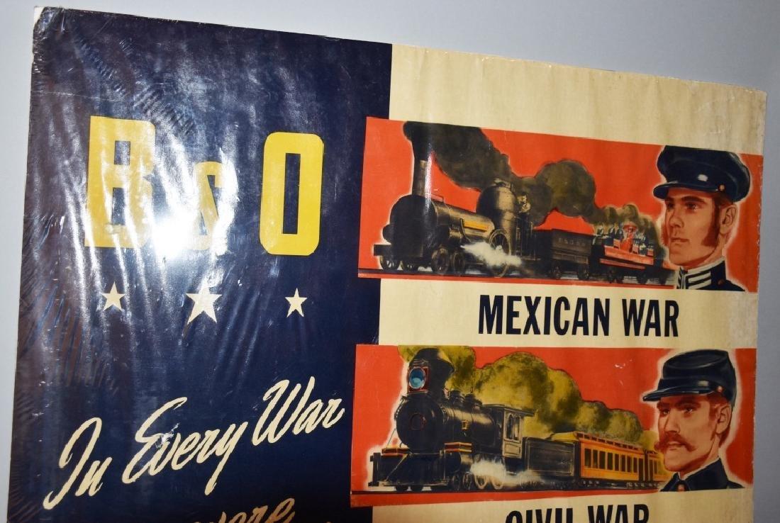 VINTAGE B&O RAILROAD WAR READY POSTER - 3
