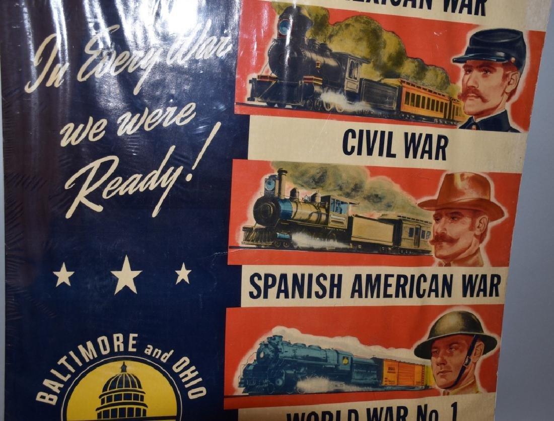 VINTAGE B&O RAILROAD WAR READY POSTER - 4