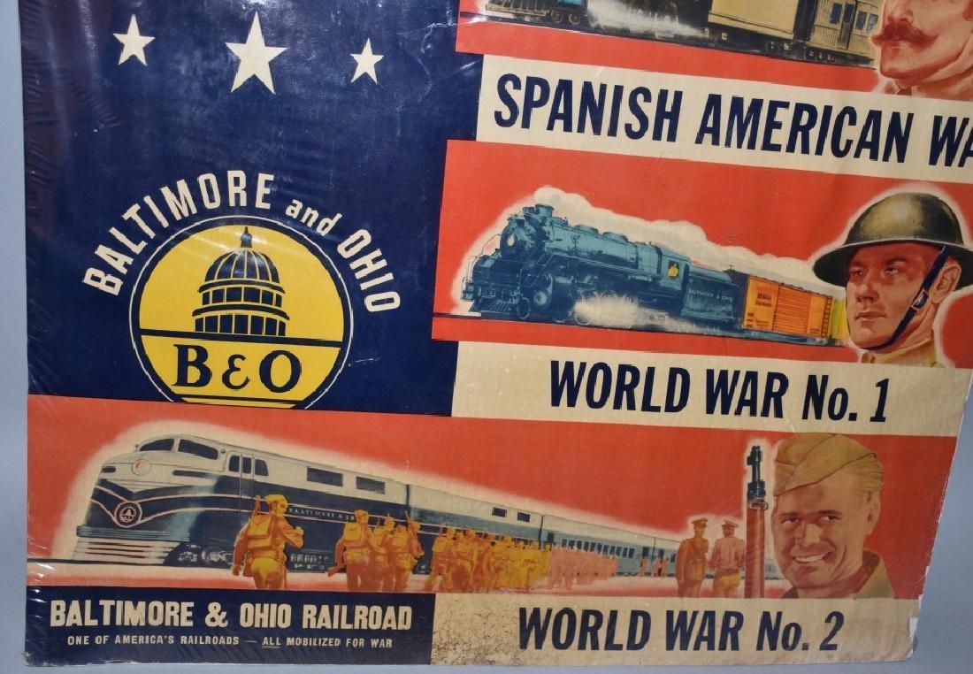 VINTAGE B&O RAILROAD WAR READY POSTER - 5