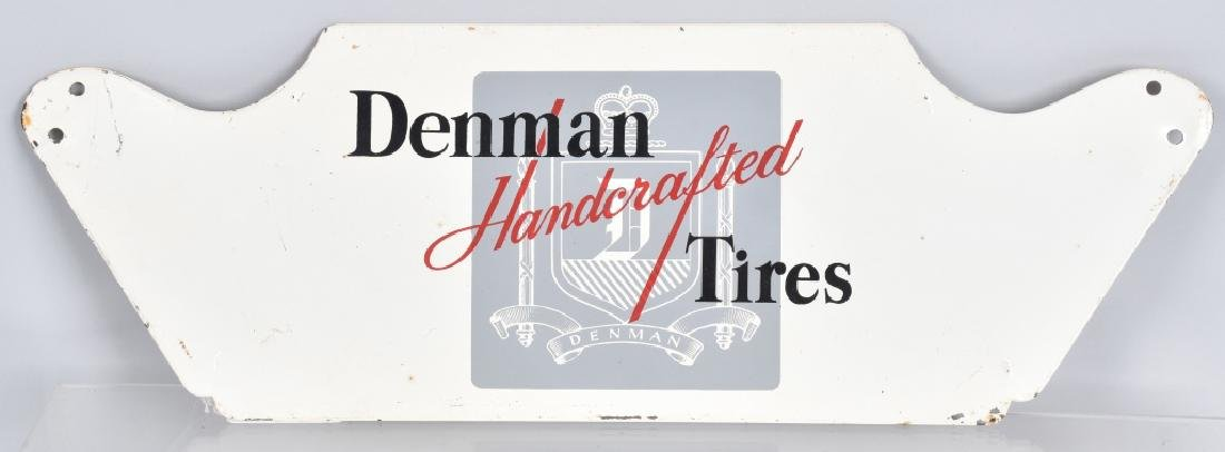 DENMAN HANDCRAFTED TIRES TIN SIGN