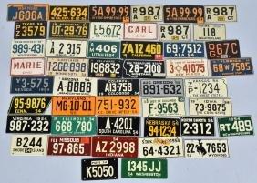 45- 1954 KELLOGS LICENSE PLATES