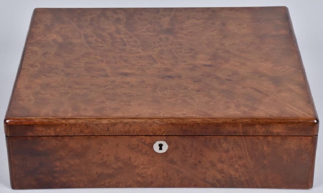 BENTLEY BURL WOOD COLOR CHIP BOX w/ KEYS - 4