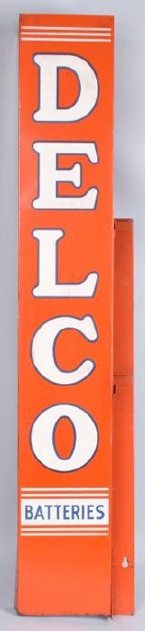 DELCO BATTERIES TIN DISPLAY SIGN