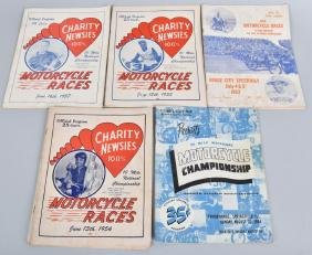 5- 1950s MOTORCYCLE RACES PROGRAMS