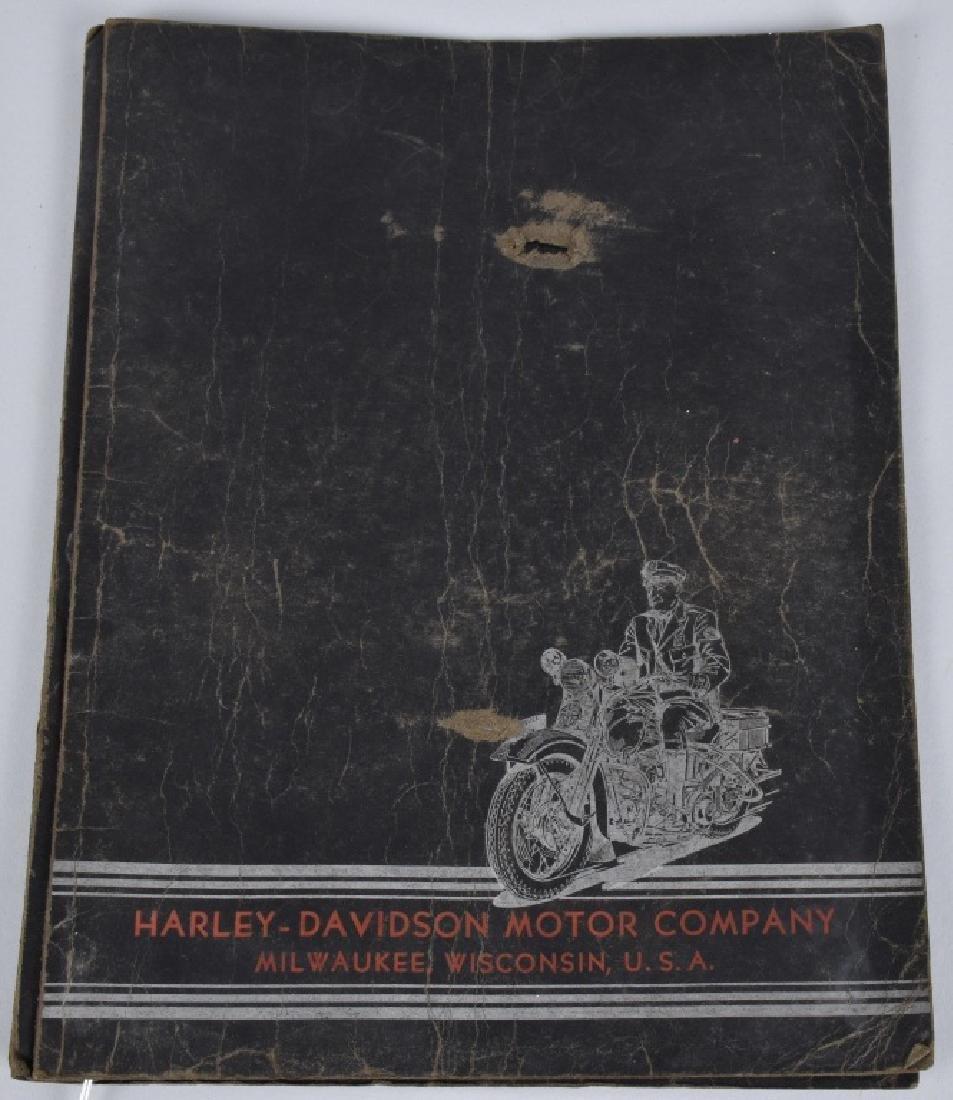 1938 HARLEY DAVIDSON SERVICE SCHOOL FOLDER SIGNED