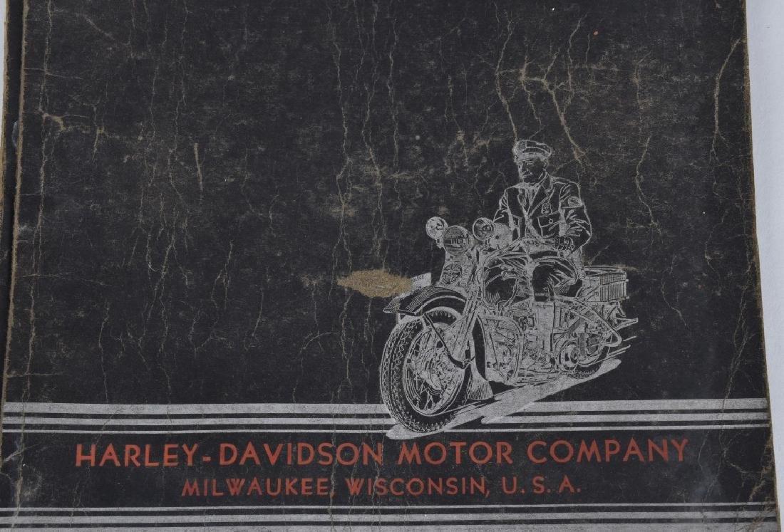 1938 HARLEY DAVIDSON SERVICE SCHOOL FOLDER SIGNED - 2