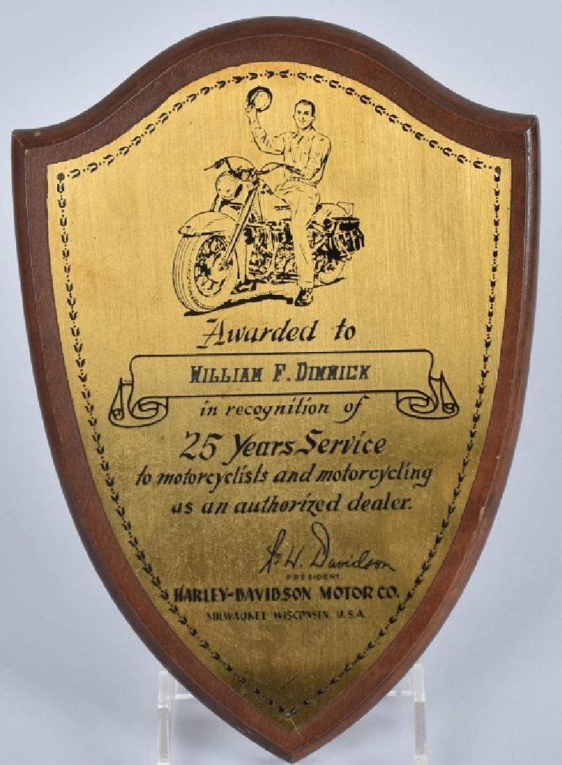 1950s HARLEY DAVIDSON 25 YEARS SERVICE AWARD
