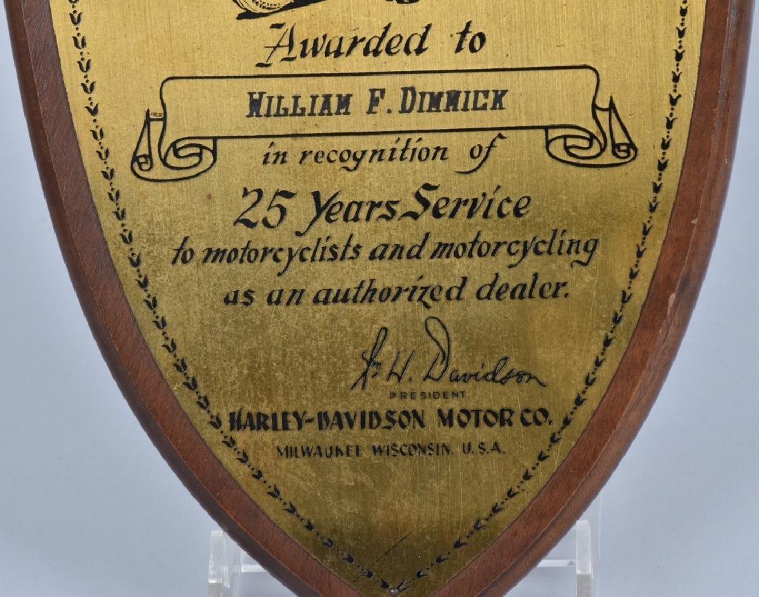 1950s HARLEY DAVIDSON 25 YEARS SERVICE AWARD - 3