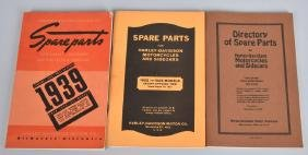 3- 1913-1939 HARLEY DAVIDSON SPARE PARTS MANUALS