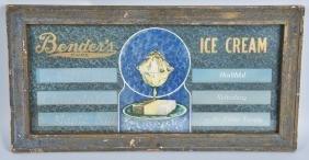 BENDERS ICE CREAM FRAMED SIGN
