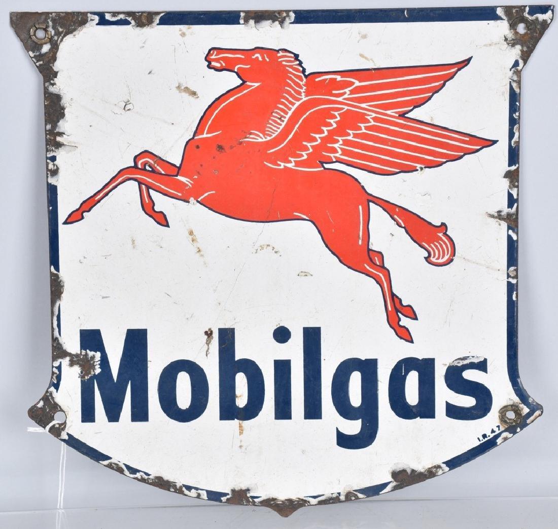 MOBILGAS PEGASUS PORCELAIN SIGN