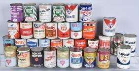 35- VINTAGE 1 QUART OIL CANS