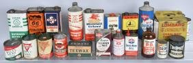 LARGE LOT OF VINTAGE OIL CANS & MORE
