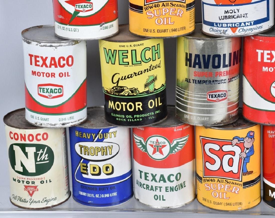 18- VINTAGE 1 QUART OIL CANS - 2