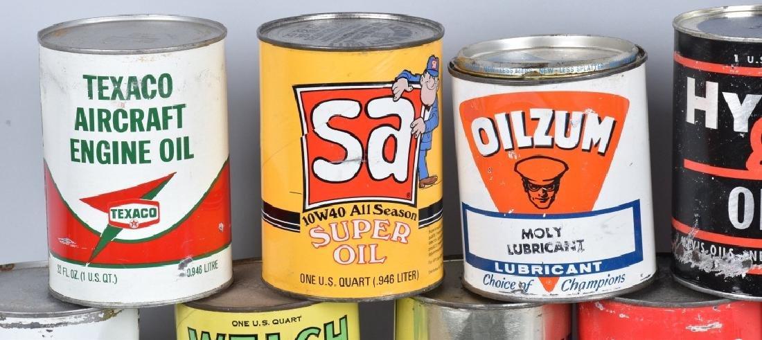 18- VINTAGE 1 QUART OIL CANS - 3