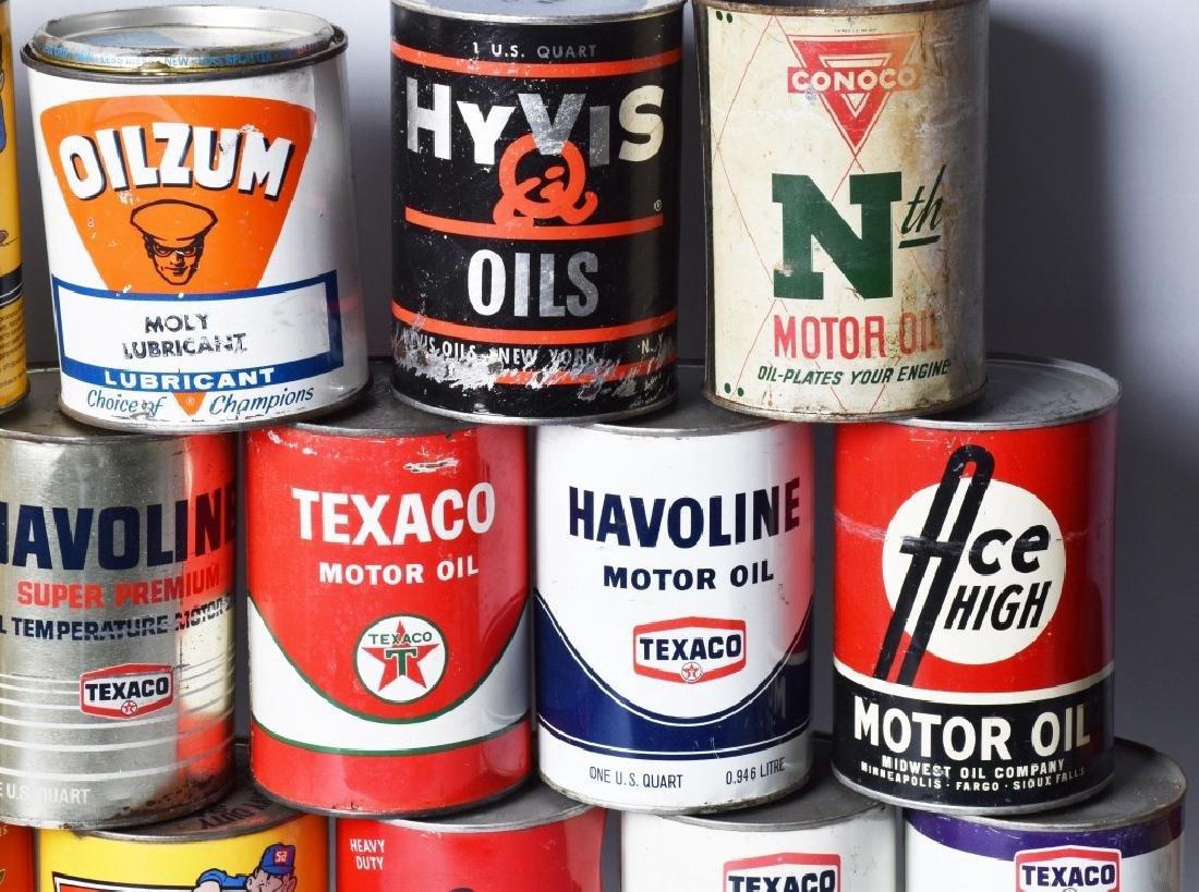 18- VINTAGE 1 QUART OIL CANS - 4