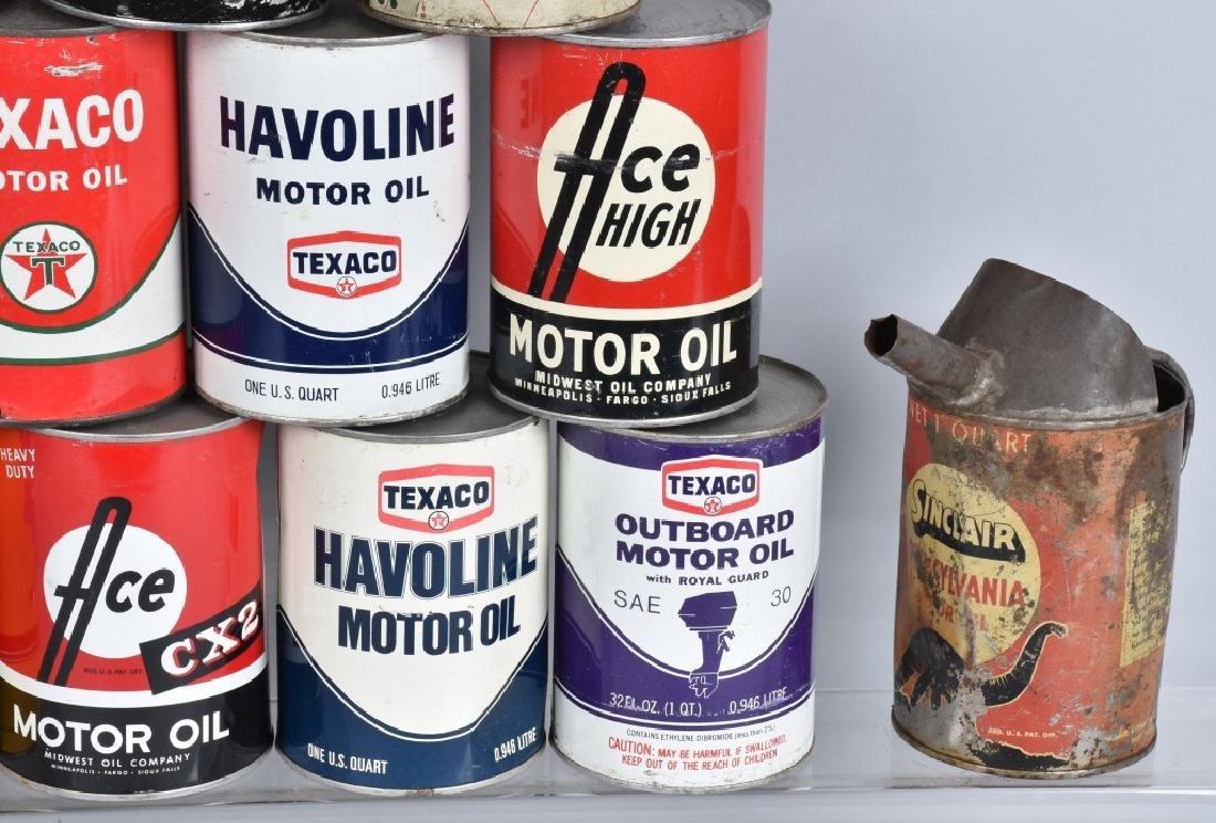 18- VINTAGE 1 QUART OIL CANS - 5