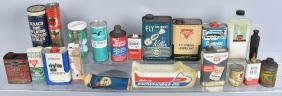 LARGE LOT OF SMALL OIL CANS & MORE