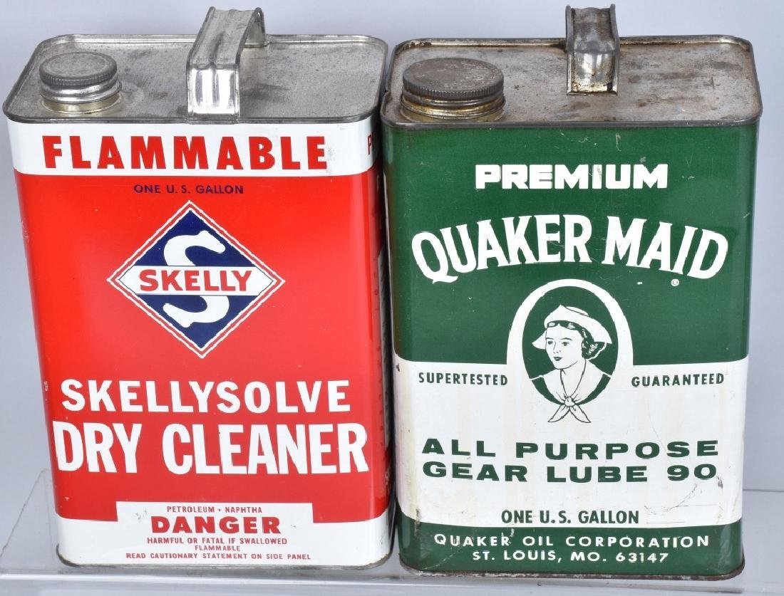 LARGE LOT OF VINTAGE GREASE, GAS, & OIL CANS - 2