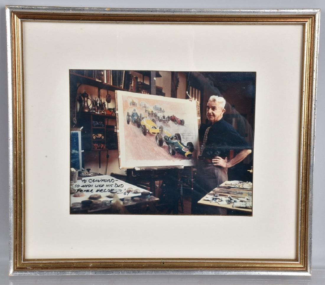 PETER HELCK AUTOGRAPHED PICTURE w/ ART